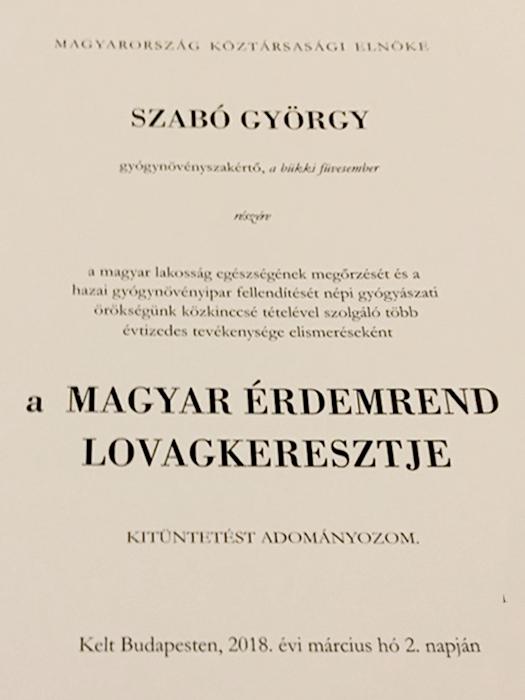 A Magyar érdemrend lovagkeresztje