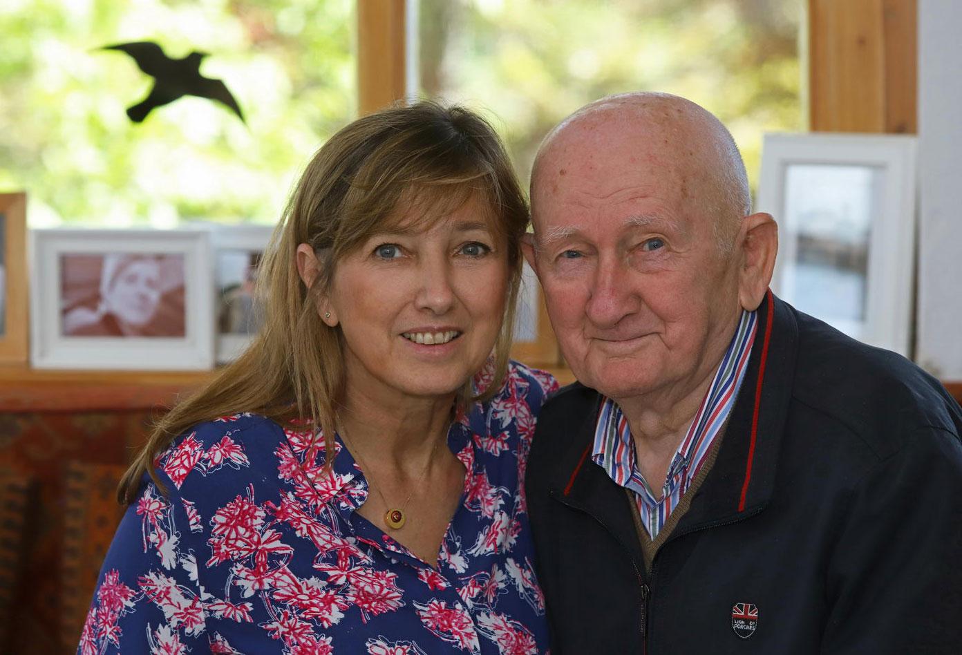 Szabó Gyuri bácsi és lánya Lopes-Szabó Zsuzsa