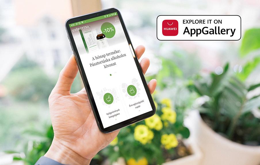 Huawei AppGallery Györgytea mobil alkalmazás